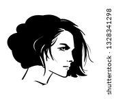 bob hairstyle beautiful woman...   Shutterstock .eps vector #1328341298