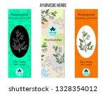 ayurvedic herbs banners.... | Shutterstock .eps vector #1328354012