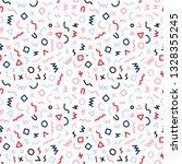 memphis style seamless pattern. ... | Shutterstock .eps vector #1328355245