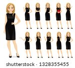 young beautiful woman in black... | Shutterstock .eps vector #1328355455