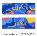 sale banners with abstract...   Shutterstock .eps vector #1328364392