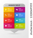 colorful infographic with... | Shutterstock .eps vector #1328369555