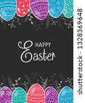 easter postcard with hand drawn ...   Shutterstock .eps vector #1328369648