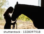 Young Woman With Horse In...