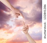 helping hand from heavens | Shutterstock . vector #132841286