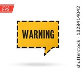 warning attention red 3d... | Shutterstock .eps vector #1328414042