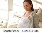 happy attractive young... | Shutterstock . vector #1328419388