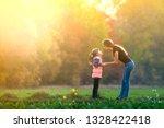profile full length portrait of ... | Shutterstock . vector #1328422418