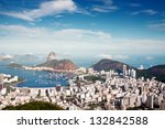 sugar loaf in rio | Shutterstock . vector #132842588