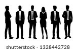 set of vector silhouettes of ... | Shutterstock .eps vector #1328442728