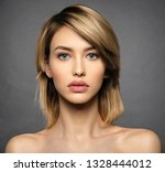 woman with beauty face and...   Shutterstock . vector #1328444012