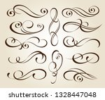set design elements. vector... | Shutterstock .eps vector #1328447048