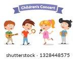 musical children band on a...   Shutterstock .eps vector #1328448575