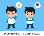 the creative man with the...   Shutterstock .eps vector #1328469638