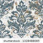 vector damask seamless pattern... | Shutterstock .eps vector #1328488085