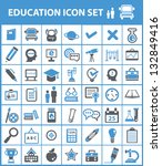 education icon set vector | Shutterstock .eps vector #132849416