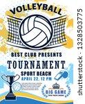 volleyball sport match... | Shutterstock .eps vector #1328503775
