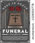 funeral service agency poster.... | Shutterstock .eps vector #1328503778