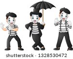 set of mimes performing... | Shutterstock .eps vector #1328530472