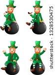 set of cartoon leprechaun... | Shutterstock .eps vector #1328530475