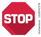 vector warning stop sign icon.... | Shutterstock .eps vector #1328542178