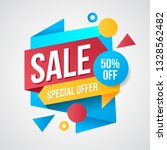colorful sale geometric banner... | Shutterstock .eps vector #1328562482