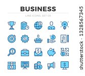 business vector line icons set. ... | Shutterstock .eps vector #1328567345