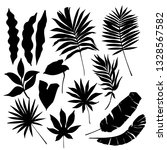 tropical leaf silhouette... | Shutterstock .eps vector #1328567582