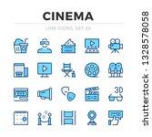 cinema vector line icons set.... | Shutterstock .eps vector #1328578058