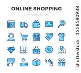 online shopping vector line... | Shutterstock .eps vector #1328580938