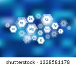 all minerals for human health.... | Shutterstock .eps vector #1328581178
