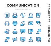 communication vector line icons ... | Shutterstock .eps vector #1328584172