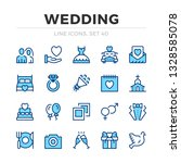 wedding vector line icons set.... | Shutterstock .eps vector #1328585078