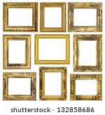 the antique frame on the white... | Shutterstock . vector #132858686