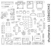 floor plan icons set for design ... | Shutterstock .eps vector #1328602442