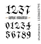set of gothic numbers....   Shutterstock . vector #1328603795