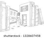 street between books graphic... | Shutterstock .eps vector #1328607458