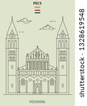 pecs cathedral in pecs  hungary....   Shutterstock .eps vector #1328619548