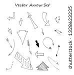 set of hand drawn arrows... | Shutterstock .eps vector #1328623235