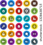 white solid icon set  house... | Shutterstock .eps vector #1328638715