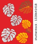 vector tropical pattern with... | Shutterstock .eps vector #1328641418