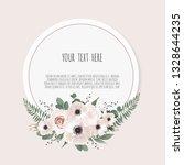 card with flower rose  leaves....   Shutterstock .eps vector #1328644235