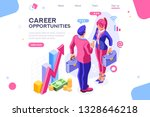work cheerful for both ... | Shutterstock .eps vector #1328646218