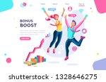 graphic bonus management.... | Shutterstock .eps vector #1328646275