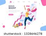 graphic bonus management.... | Shutterstock .eps vector #1328646278