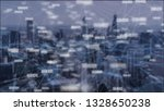 data network connection double... | Shutterstock . vector #1328650238