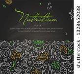 line style banner of nutrition... | Shutterstock .eps vector #1328652038