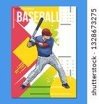 baseball poster  placard....   Shutterstock .eps vector #1328673275