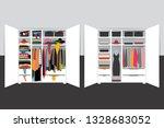 capsule minimalistic wardrobe...   Shutterstock .eps vector #1328683052