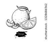 orange vector drawing. summer... | Shutterstock .eps vector #1328686562